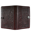 Celtic Hounds Large Journal Wine Leather 2 Gaelsong