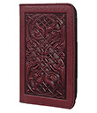 Celtic Hounds Checkbook Cover Wine Leather 1 Gaelsong