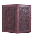 Celtic Hounds Checkbook Cover Wine Leather 2 Gaelsong