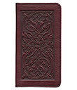Celtic Hounds Checkbook Cover Wine Leather 3 Gaelsong