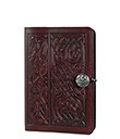Celtic Hounds Small Journal Wine Leather 1 Gaelsong