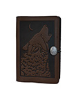 Wolf Song Small Journal Leather Chocolate Color 1 Gaelsong