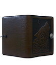 Wolf Song Small Journal Leather Chocolate Color 2 Gaelsong