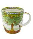 Celtic Tree Of Life Mug Made of Bone China White Green Gaelsong