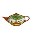 Celtic Tree Of Life Teabag Holder Made of Bone China White Green Gaelsong