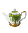 Celtic Tree Of Life Teapot Made of Bone China White Green Gaelsong