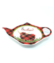 Highland Cow Tea Bag Holder Made of Bone China Red White Gaelsong