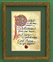 Peace to All Print, Gilded Frame Gaelsong