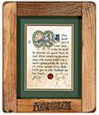 Irish Blessing Print Rustic Frame Gaelsong