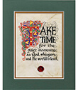 Take Time Print, Unframed Gaelsong