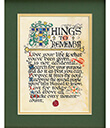 Things To Remember Print, Unframed Gaelsong