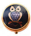 Enameled Pill Box Owl Gaelsong