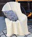 Honeycomb Merino Wool Aran Throw