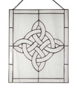Beveled Window Celtic View Made of Stained Glass Gaelsong