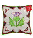 Scottish Pillows with Thistle Made of Cotton Red and White Gaelsong