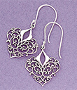 Silver Filigree Heart Earrings Gaelsong