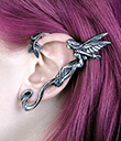 Pewter Fairy Ear Wrap Silver Lifestyle 1 Gaelsong
