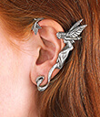 Pewter Fairy Ear Wrap Silver Lifestyle 2 Gaelsong