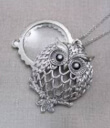 Magnifier Pendant Owl Collage Gaelsong