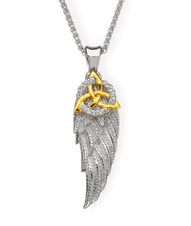 Angel's Wing with Trinity Knot Pendant
