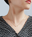 Zodiac Constellation Necklet Scorpio Lifestyle Pave Cubic Zirconia Gold Dipped Gaelsong