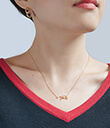 Zodiac Constellation Necklet Virgo Lifestyle Pave Cubic Zirconia Gold Dipped Gaelsong