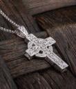 Deep Faith Celtic Cross Pendant Gaelsong on Surface