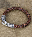 Braided Leather Bracelet Brown Color 2 Gaelsong
