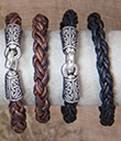 Braided Leather Bracelet Black and Brown Color 3 Gaelsong