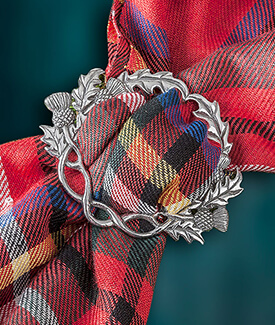 Scottish Thistle Scarf Ring