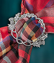Scottish Thistle Scarf Ring Lifestyle Gaelsong