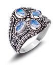 Moonstone Quartet Ring