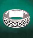 Spinner Ring Sterling Silver on Cyan Background Gaelsong