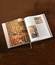 Hardcover Slipcased Irish Book of Kells Opened Gaelsong