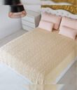 Aran King Cable Knitted Throw Made of Merino Wool Natural White Gaelsong