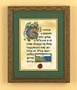 Hospitality Print, Gilded Frame