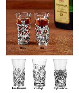 Glass & Pewter Shot Glasses