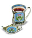 Thistle Mug & Tea Bag Holder
