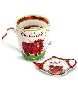 Highland Cow Mug & Tea Bag Holder