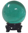 Crystal Balls of 6, 8 and 10 cm of Green Color Gaelsong
