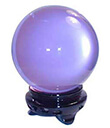 Crystal Balls of 6, 8 and 10 cm of Lavender Color Gaelsong