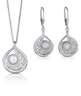 Child of the Moon Pendant and Earrings