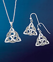 Encircled Sterling Silver Celtic Trinity Knot Jewelry
