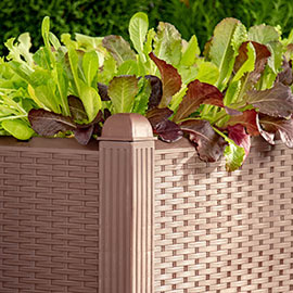 Wicker-Look Raised Garden Bed