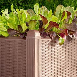 Wicker-Look Raised Garden Bed