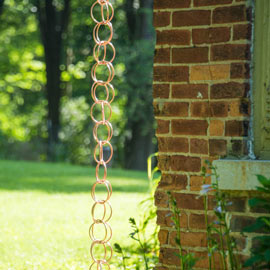Polished Copper Rain Chain