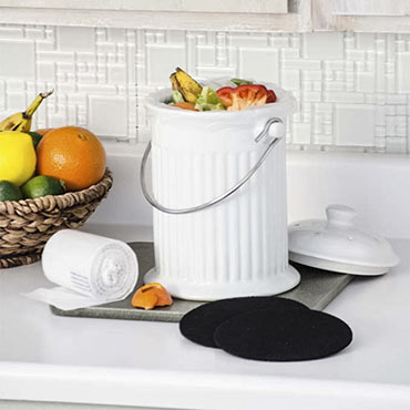 Ceramic Kitchen Compost Crock