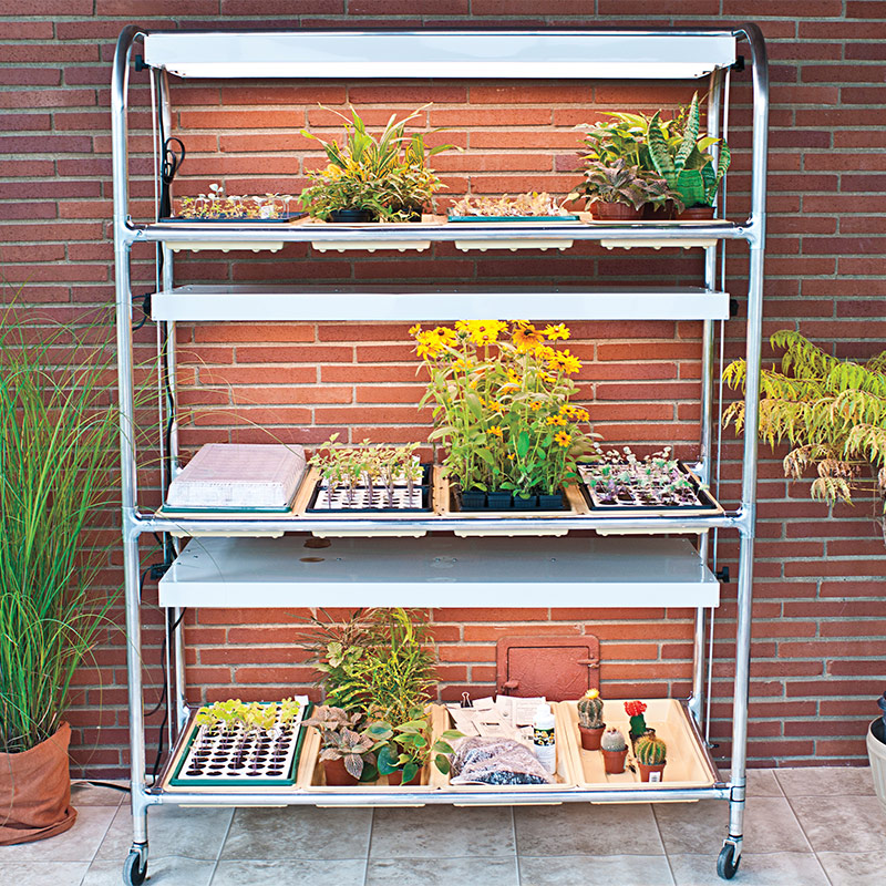 Premium Light Stand Seed Starting Tools From Gardens Alive