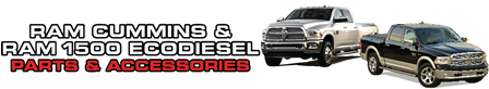 Ram Cummins Diesel and Ram 1500 EcoDiesel Parts & Accessories