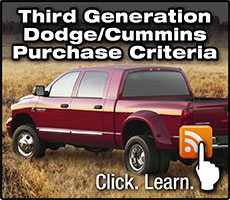 Third Generation Dodge Cummins Purchase Criteria